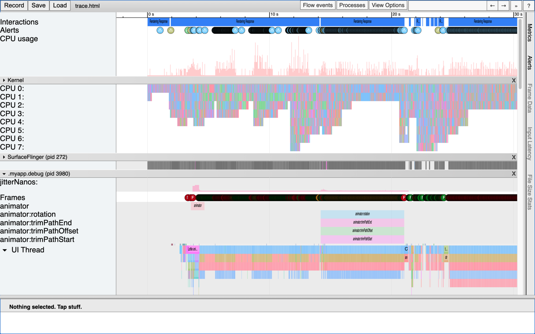 First look at a trace file