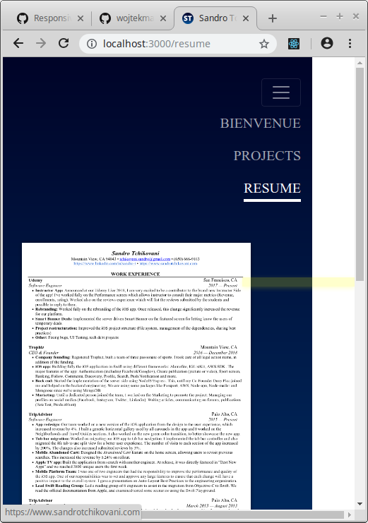 Responsive Document/Page  Mission accomplished, But with a hack