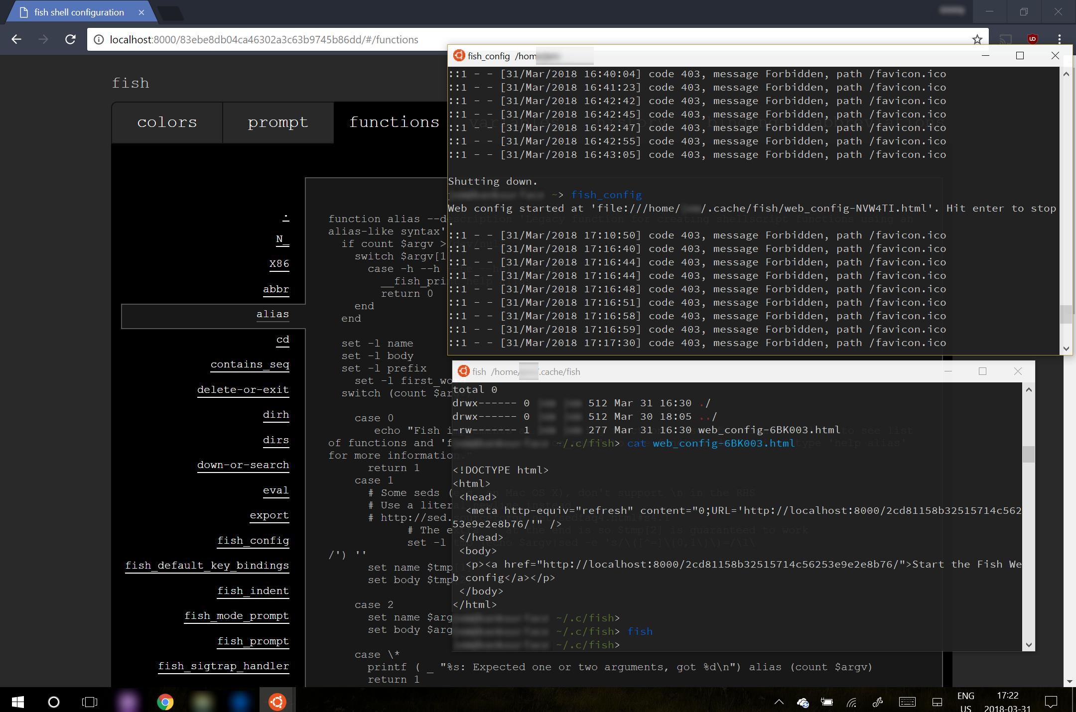 fish_config web url unreachable under WSL · Issue #4299
