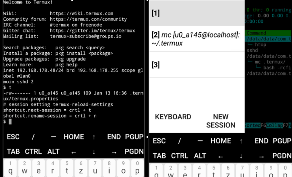 seting of navigation drawer · Issue #978 · termux/termux-app