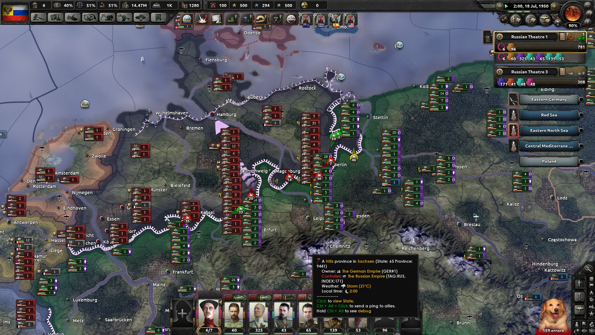 play as russia, i single-handedly defeat germany empire, but