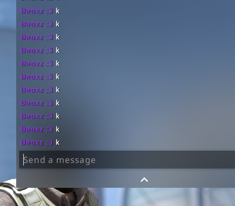 Pressing a key + Enter to send chat message at same time floods the