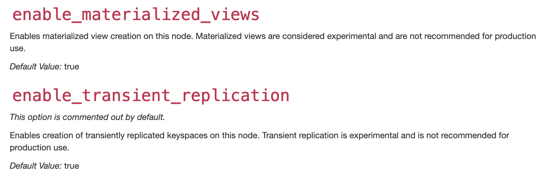 Questions about enable_materialized_views and