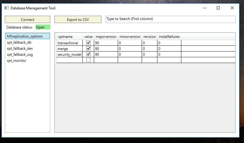 GitHub - TzurielSelaSoftware/DatabaseTool: Database information