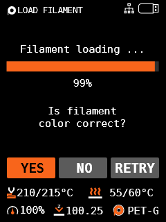 load filament color check