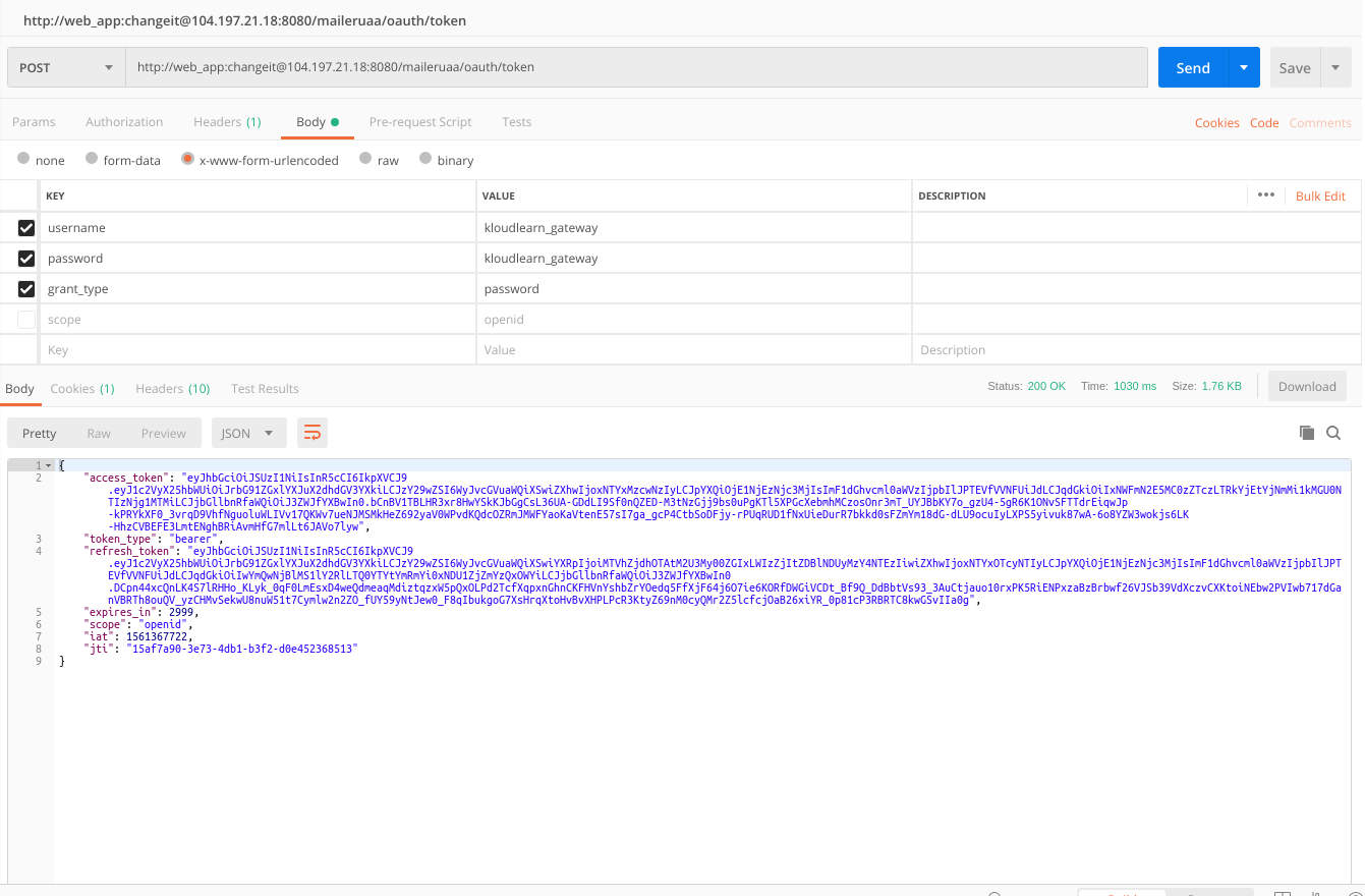 Having Bad Credentials on /oauth2/token even with correct