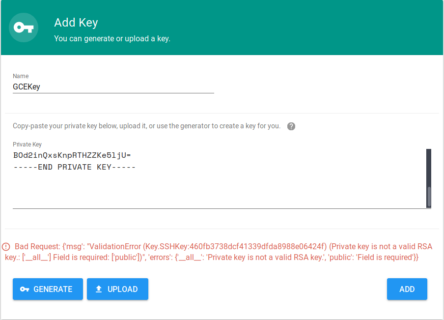 Adding SSH Key - Private key is not a valid RSA key · Issue