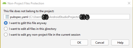 Android Studio for all of CPP files: This File is not part