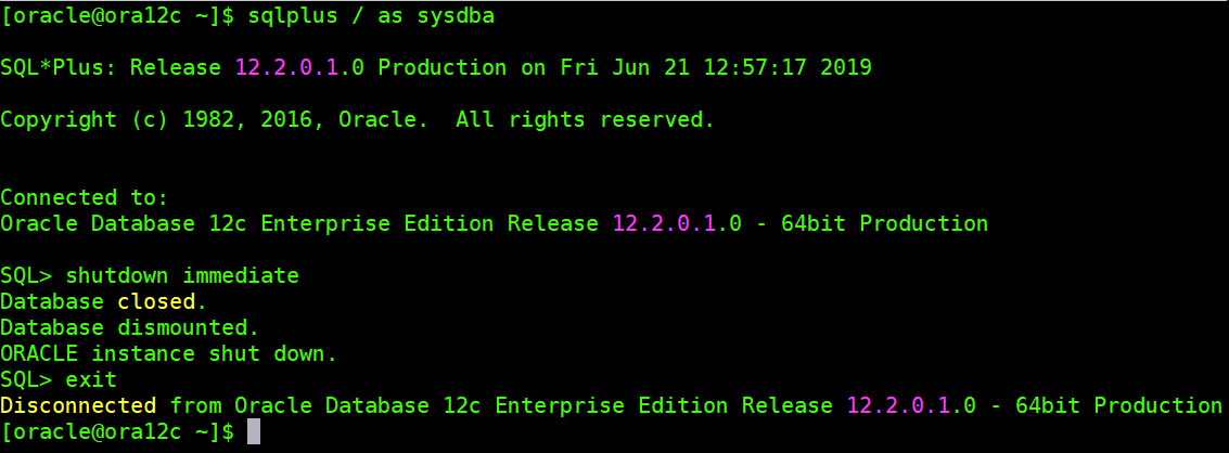 Ansible in Shutting down Ora12c Database · Issue #58223 · ansible