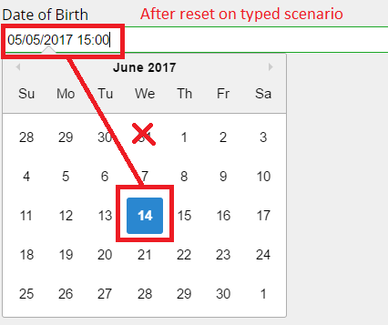 Resetting state on parent component doesn't reset input