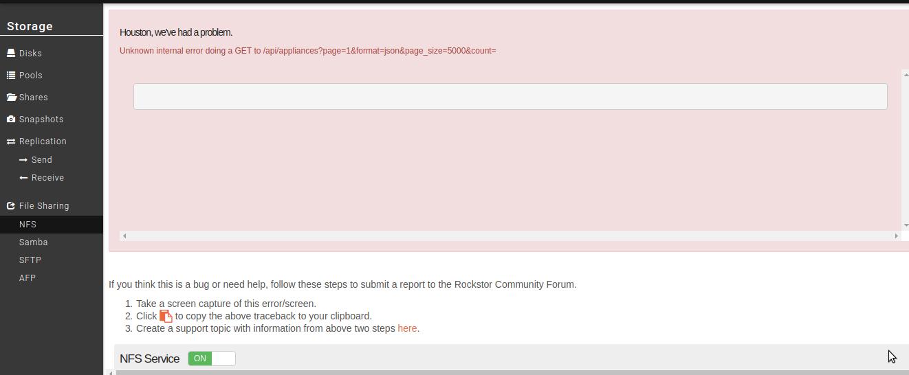 Can't access Users in Rockstor UI · Issue #2001 · rockstor/rockstor