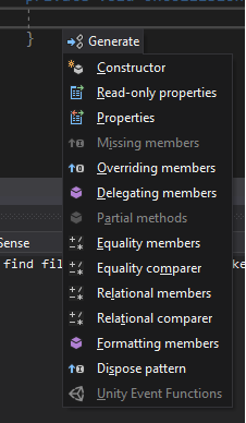 Intellisense not working on Unity Event Functions · Issue