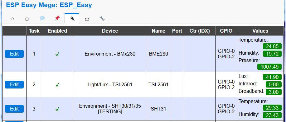 tsl2561 i2c sensor is not detected when sht3x sensor