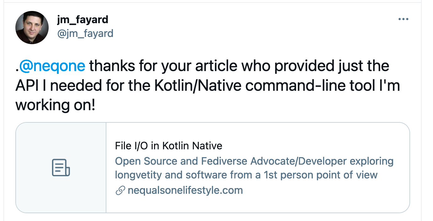 Thank you for your articles on Kotlin Native