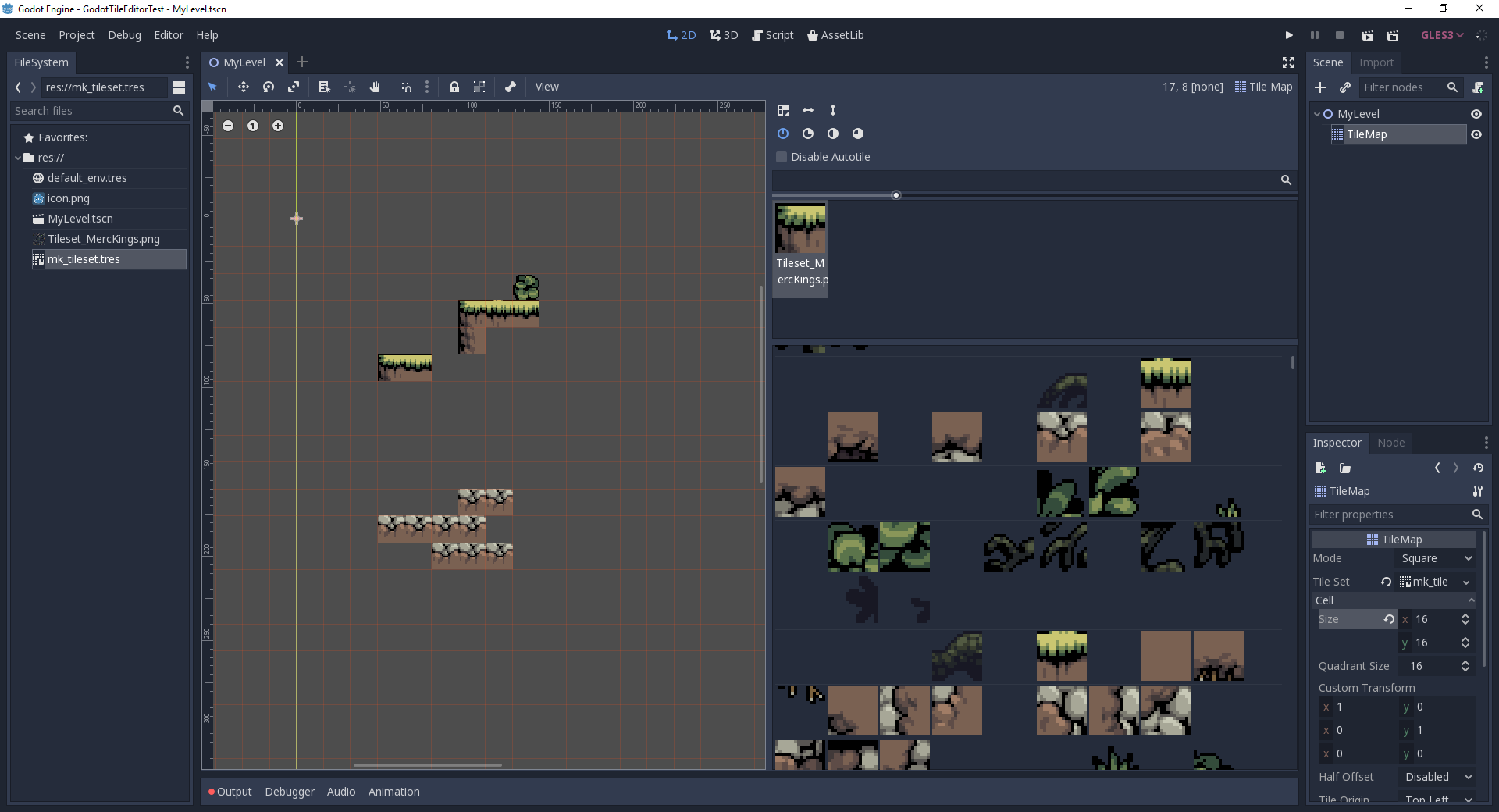16X16 Tileset tilemap editor - workflow enhancements · issue #24517