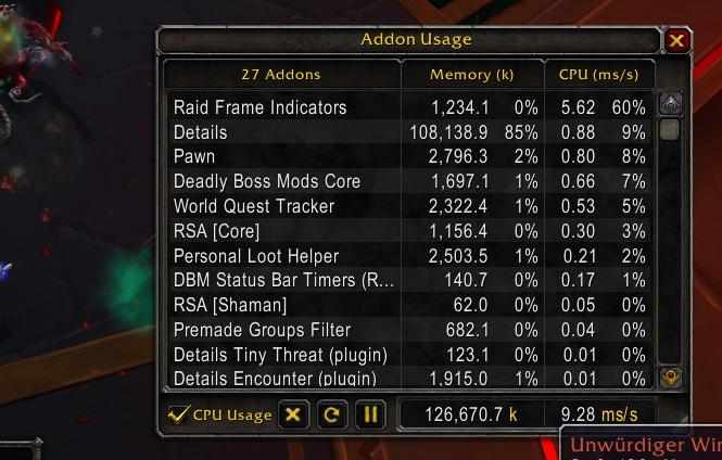 CPU usage very High when tracking alot buffs > FPS dropping crazy