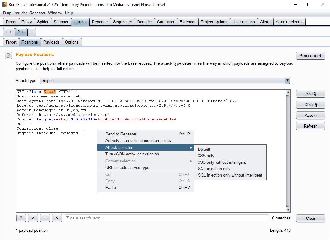 GitHub - PortSwigger/attack-selector: Burp Suite Attack Selector Plugin