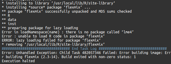 Installation error] unable to load R code in package
