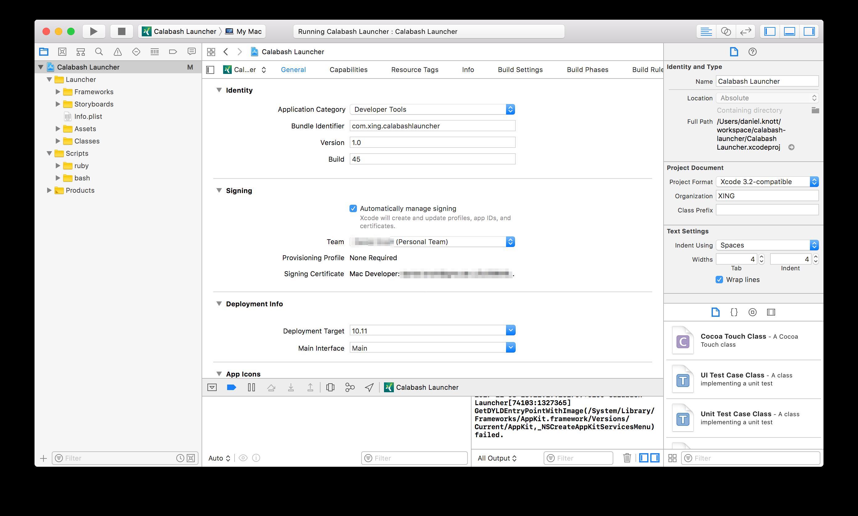 XCode - Adding a developer team