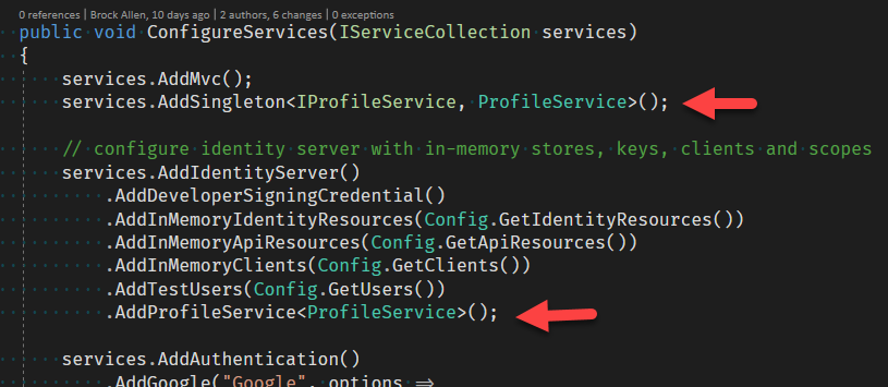 IdentityServer on Core 2 0 - Claims from ProfileService are