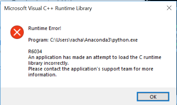 Windows Errors 'You Need To Install The Visual C Runtime Library'