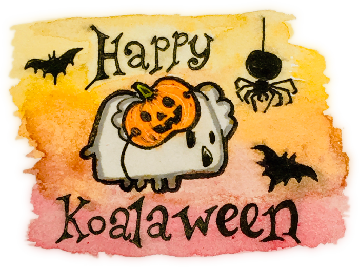 Happy Koalaween! Featuring our Koa11y koala mascot in a pumpkin mask
