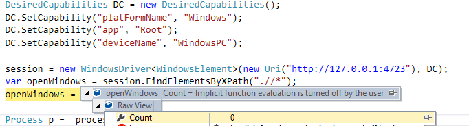 Unable to fetch children from desktop using Xpath · Issue