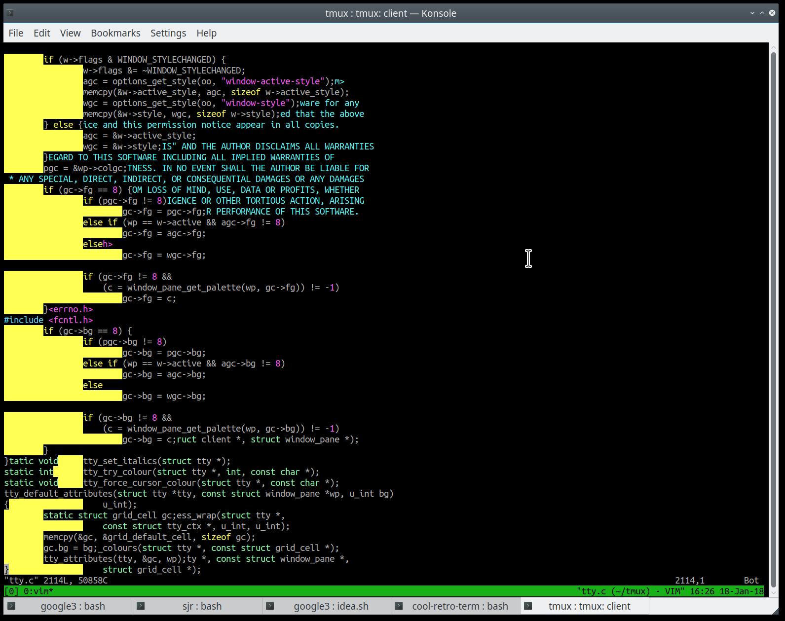 Tmux Screen