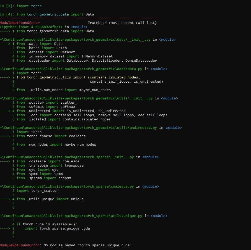 ModuleNotFoundError: No module named 'torch_sparse
