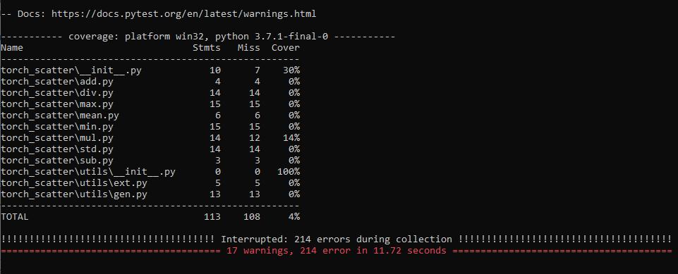 Error in running python setup py test · Issue #33 · rusty1s