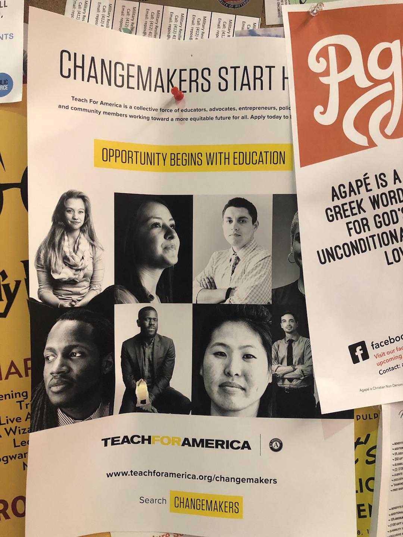 teach for america flyer