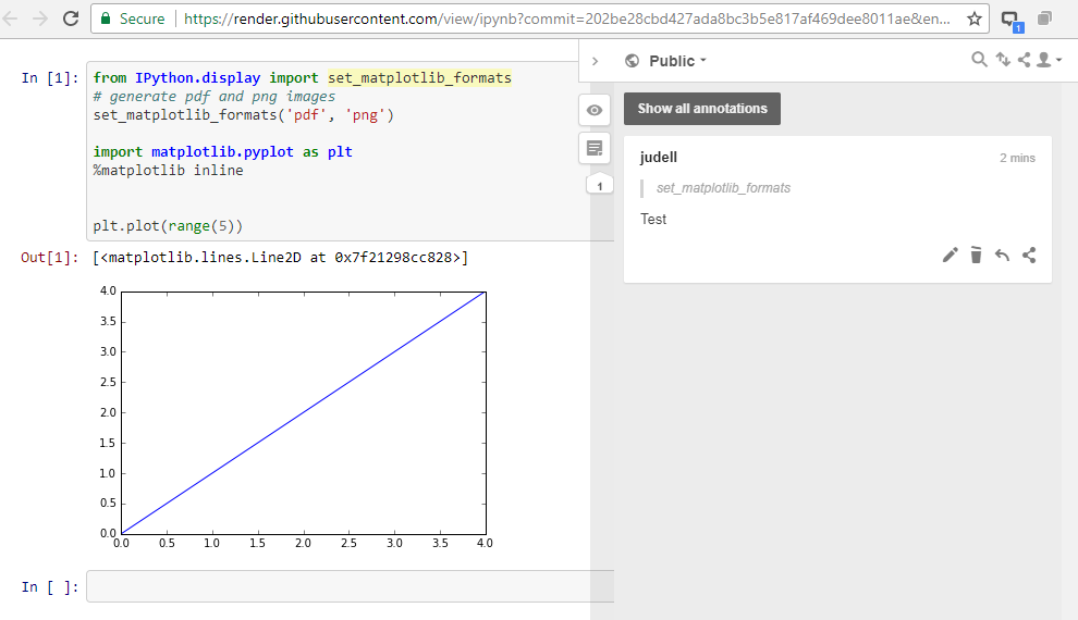 cannot comment on html view of notebooks · Issue #2727 · jupyter