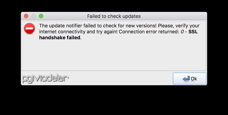 Failed To Check Updates Issue 949 Pgmodelerpgmodeler Github