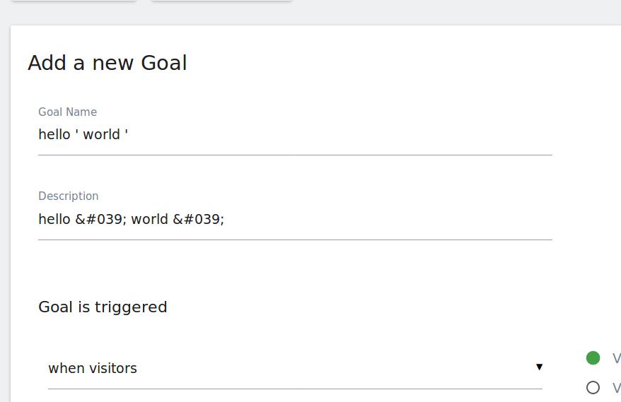 new goal