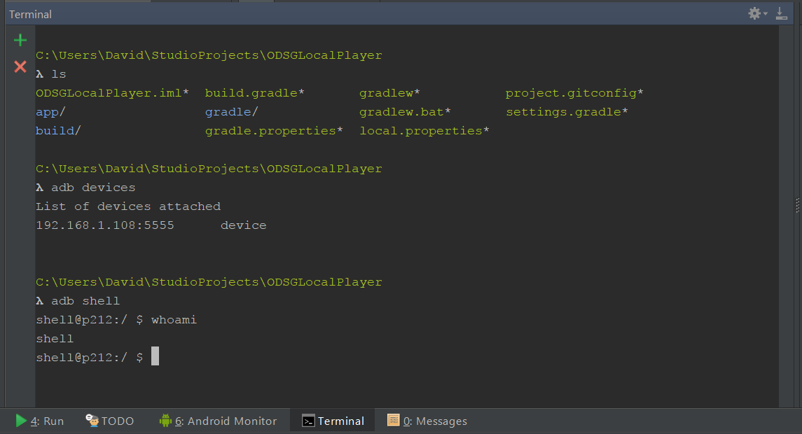 Can't use as terminal in Android studio · Issue #1267 · cmderdev
