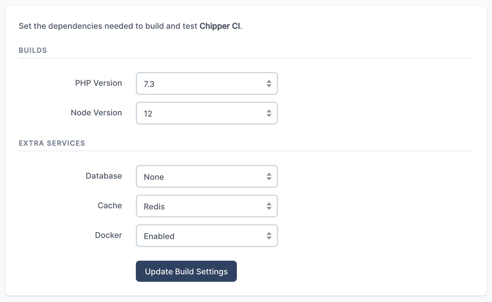 Docker environment settings