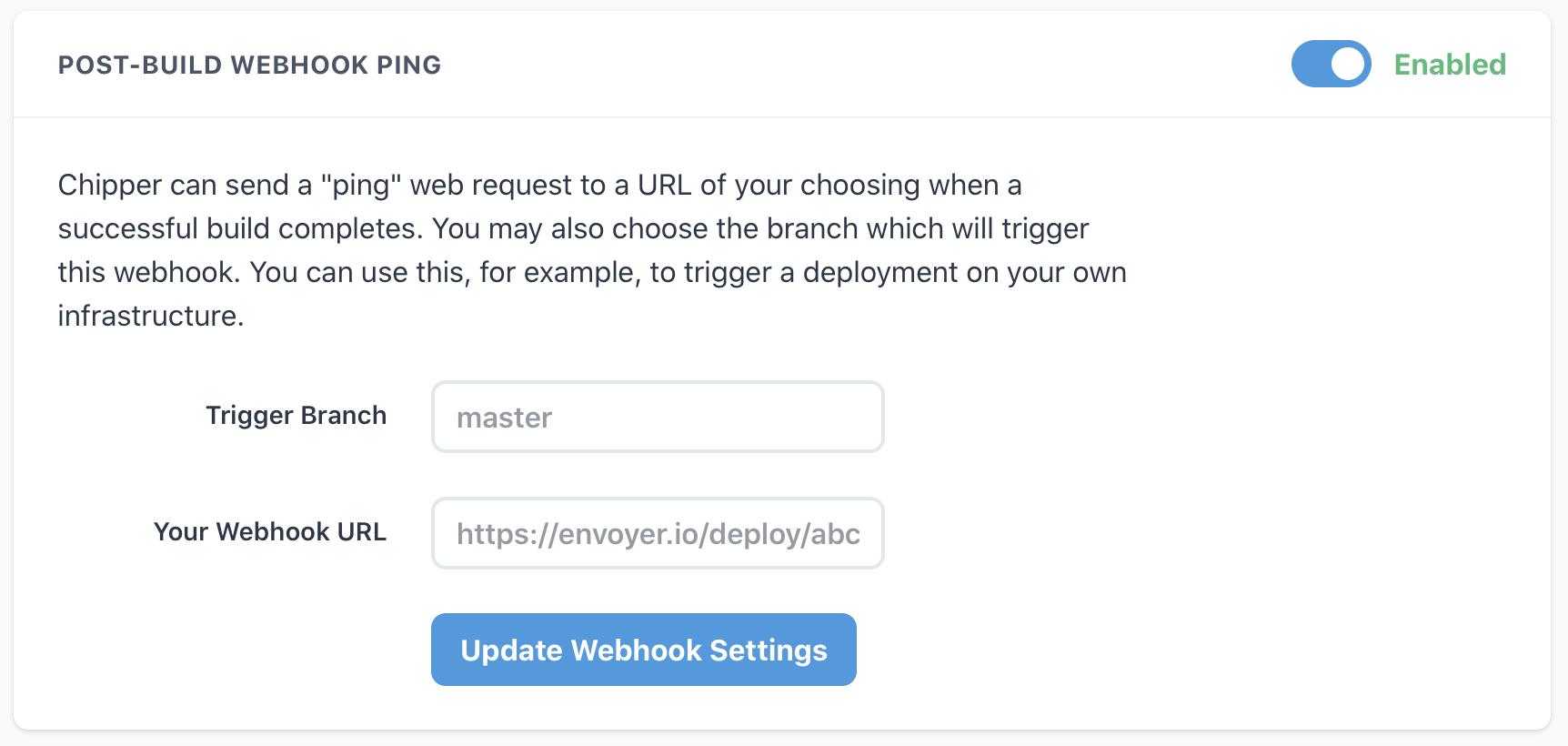 chipper ci post build webhook