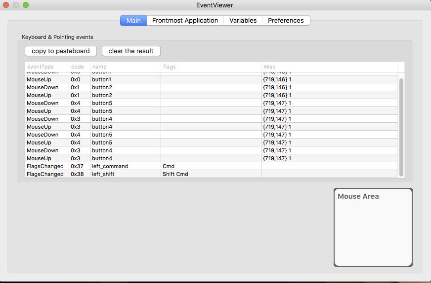 KE Complex Modifications tab