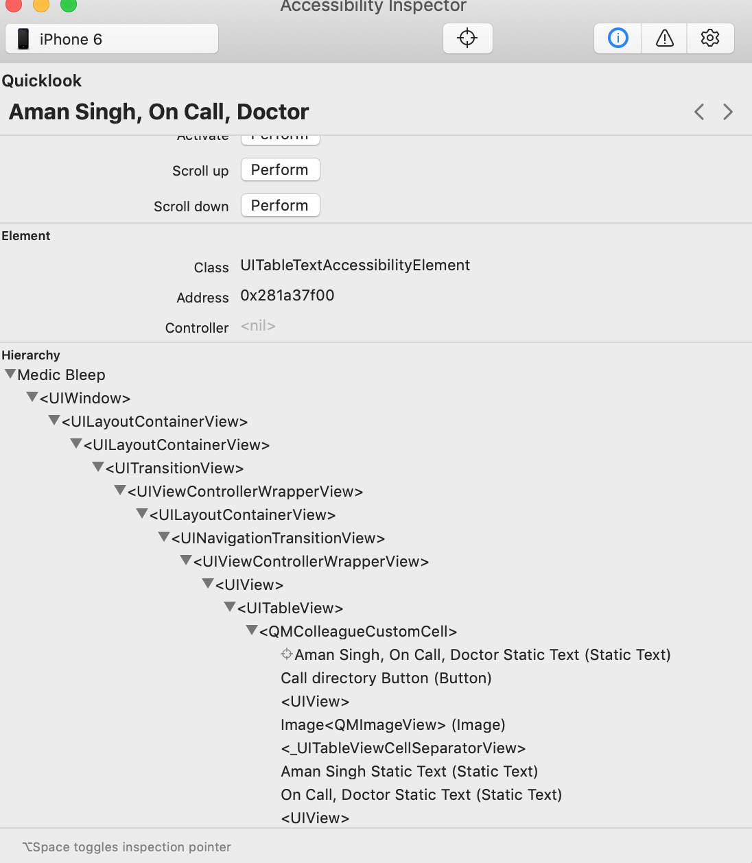 Appium inspector unable to inspect elements in ios application