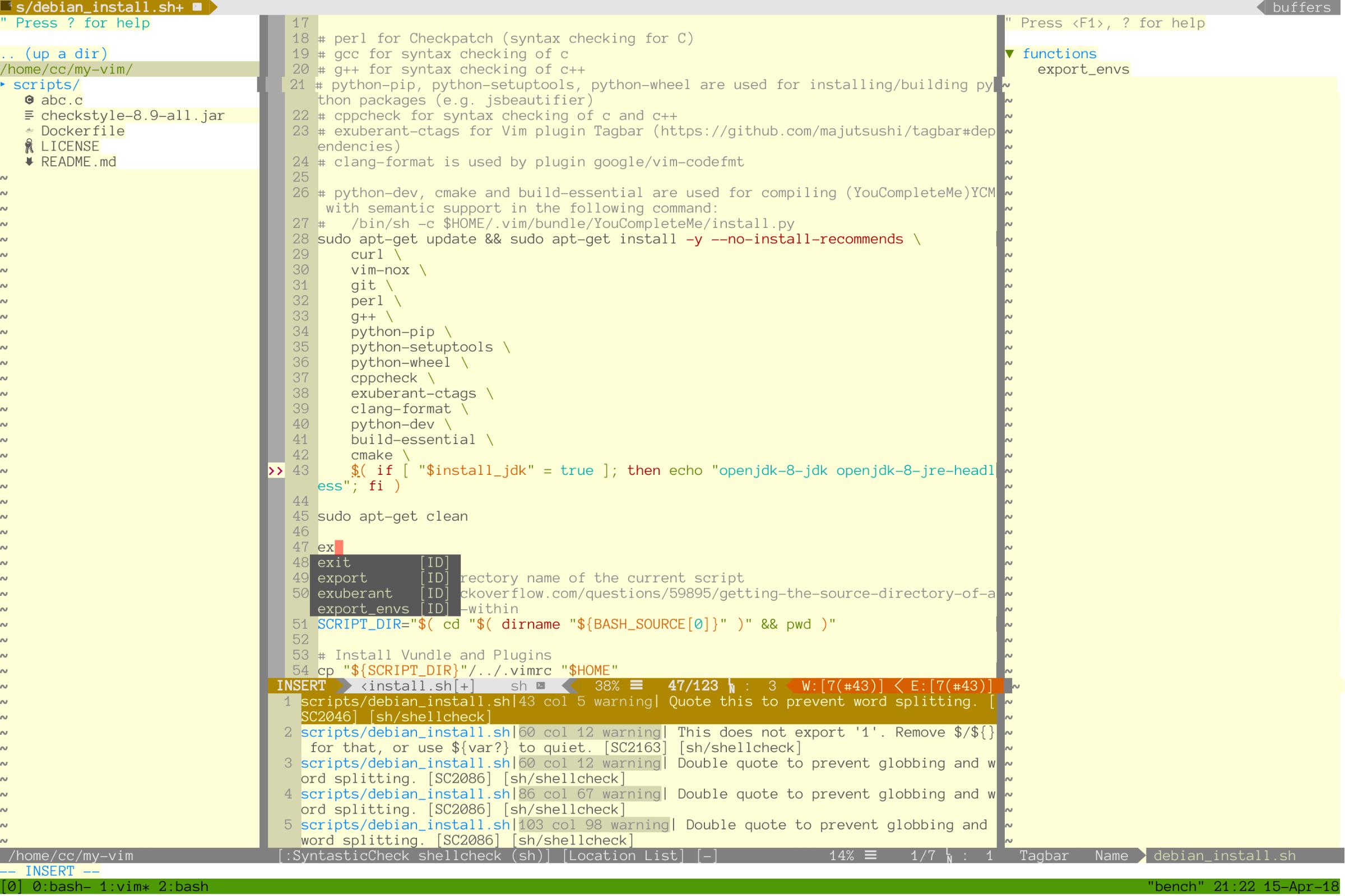 install vim dockerfile