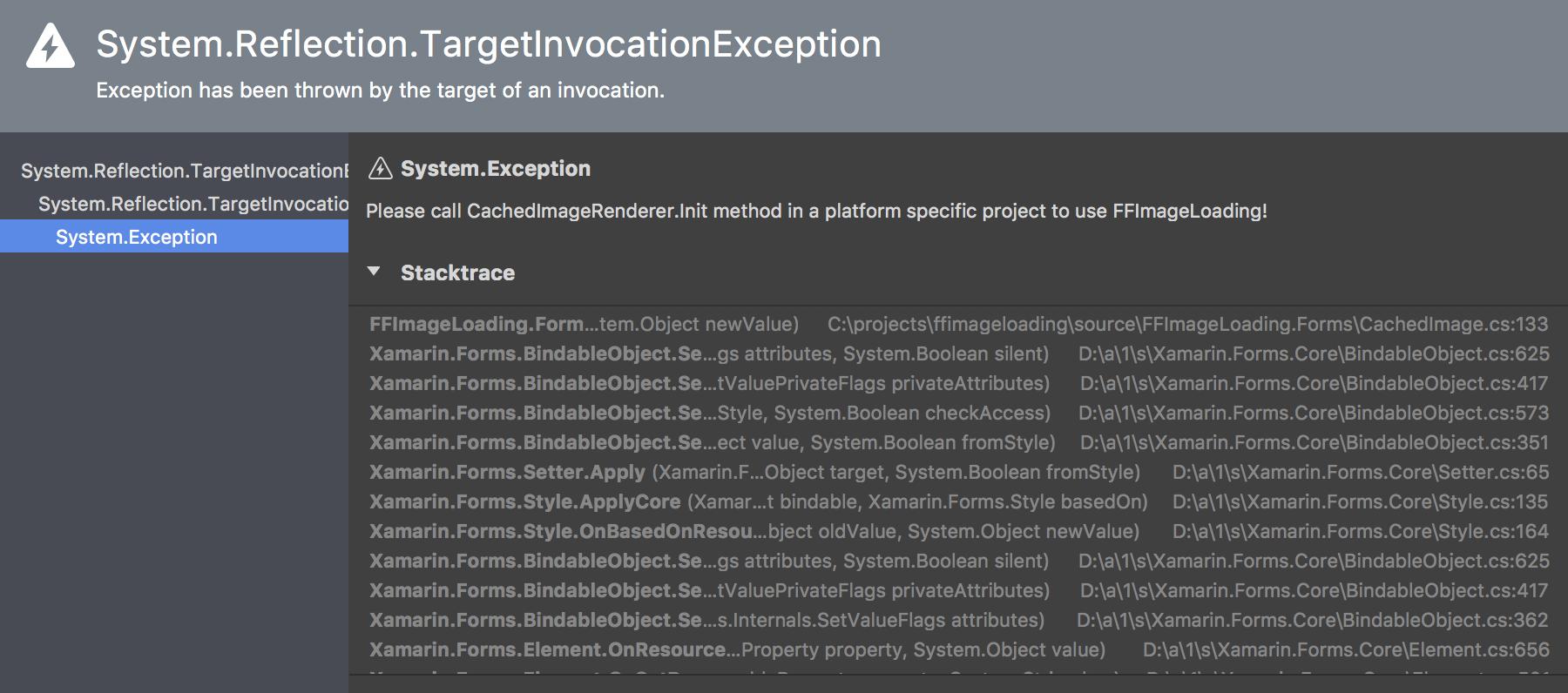 CachedImageRenderer Init error Xamarin Forms Droid v3