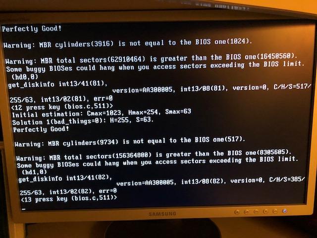grub4dos-0 4 6a: Processing the preset-menu     hanging
