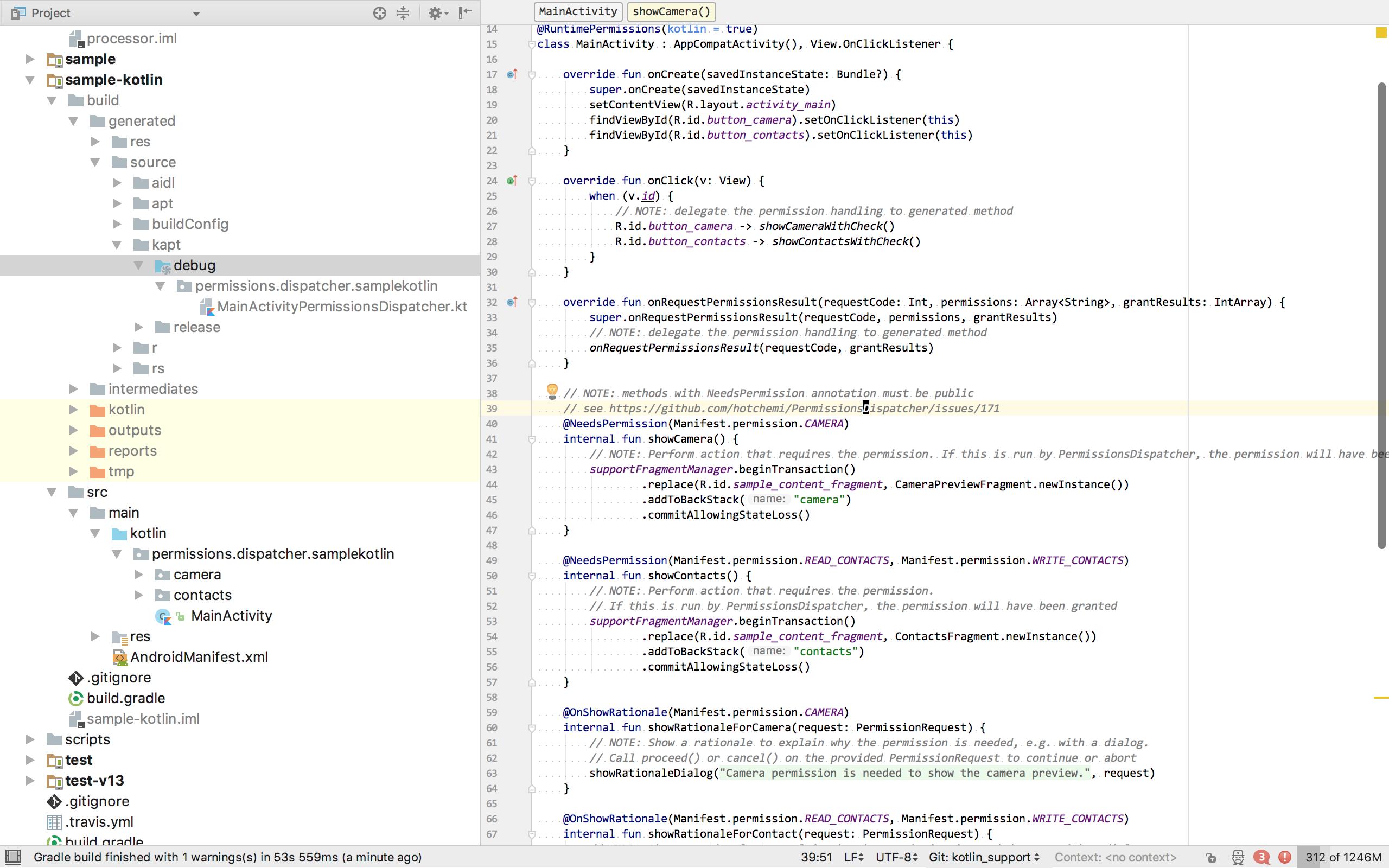 Kotlin based dispatcher file generation support · Issue #320