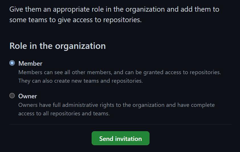 Invite As Member