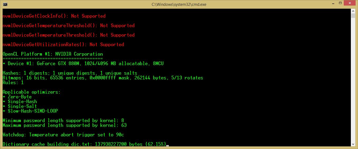 Dictionary cache building stops · Issue #1989 · hashcat/hashcat · GitHub