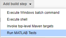GitHub - jenkinsci/matlab-plugin: The Jenkins plugin for MATLAB
