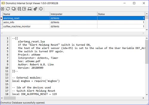 GitHub - rwbl/domoticz-internal-script-viewer: View offline