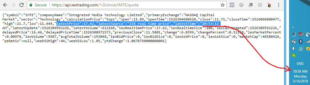 Quote data is delayed ~5 minutes · Issue #329 · iexg/IEX-API