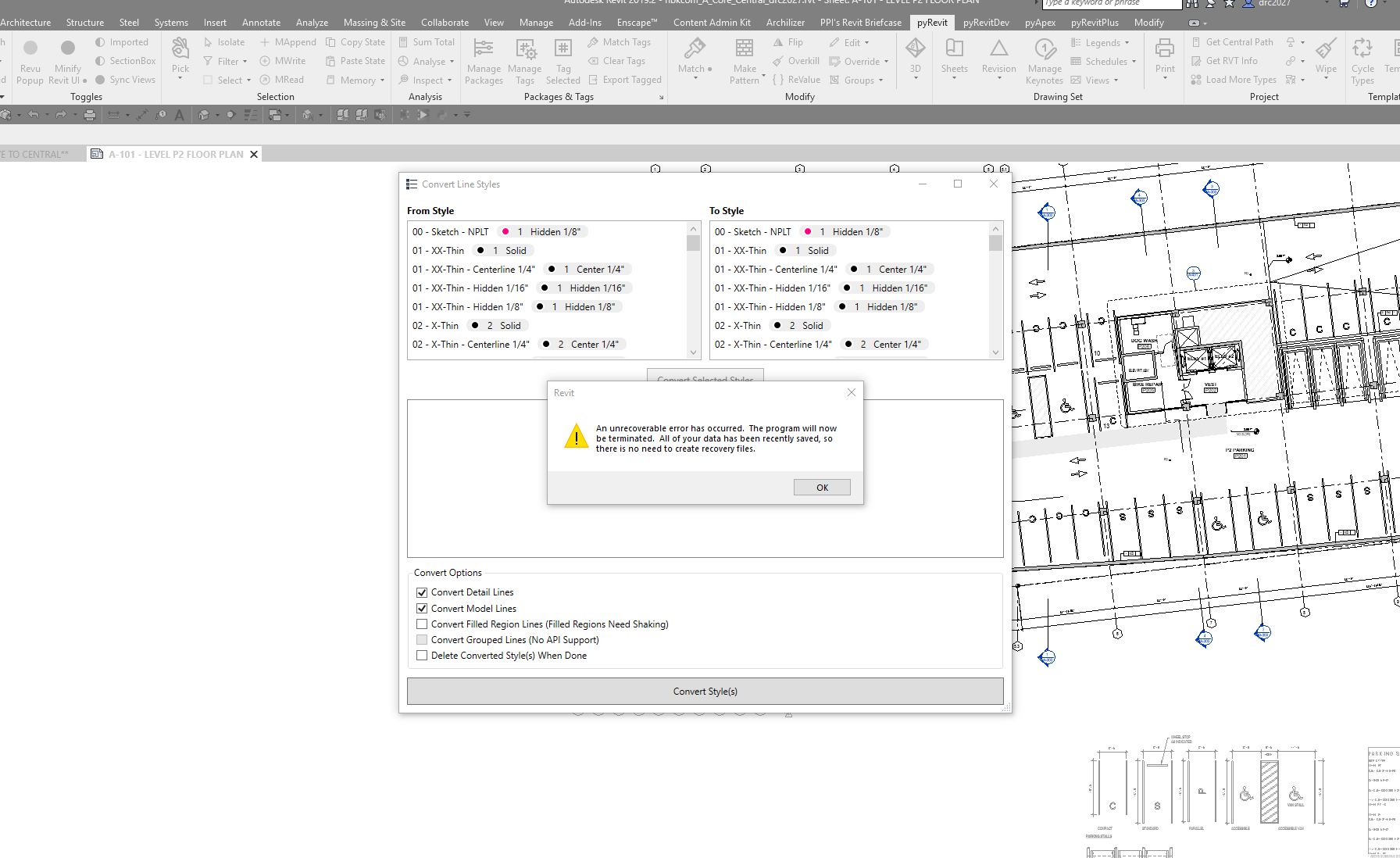 Convert Line Style tool crashes Revit · Issue #551