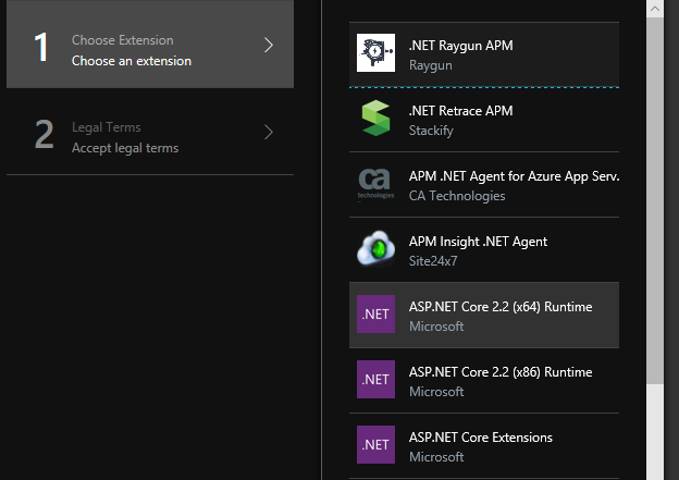 To Deploy A Preview Release Antares Folks Need Install The ASPNET Core Runtime Site Extension